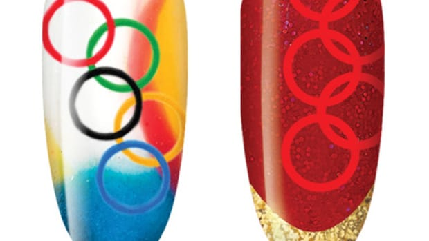 CND Olympic nail art
