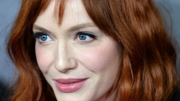 Christina Hendricks makeup - Banana Republic L'Wren Scott launch party, 2013 (1)