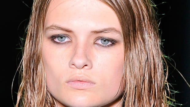 Alexander Wang - Spring 2012 wet look hair