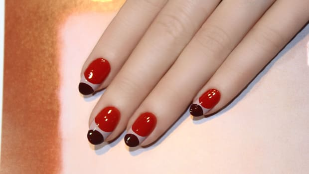 Double moon manicure