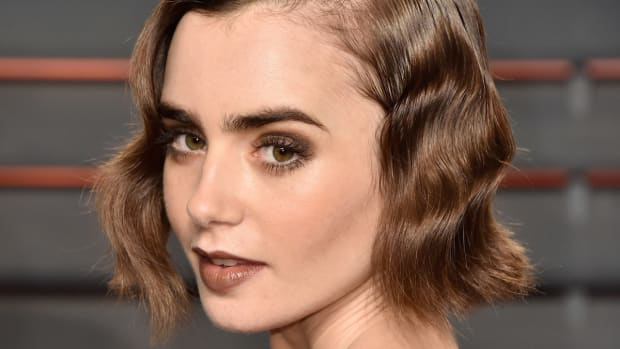 Lily Collins, Vanity Fair Oscar party, 2016