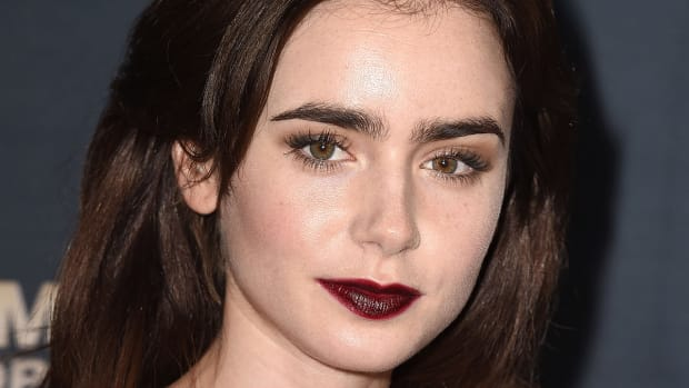 Lily Collins, Jeremy Scott The People's Designer premiere, 2015