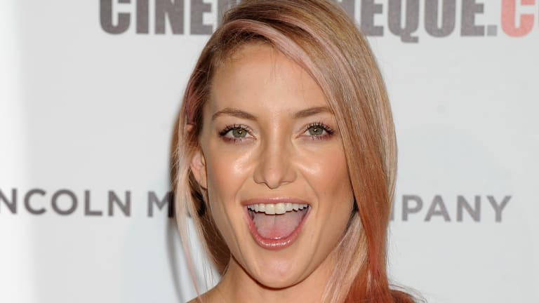 Look! Kate Hudson Dyed Her Hair Pink