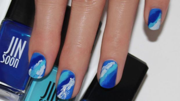 Wave nail art tutorial (3)