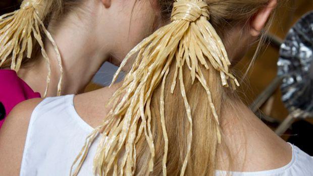 Moschino Cheap & Chic - Spring 2012 hair