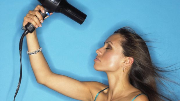 woman-drying-hair