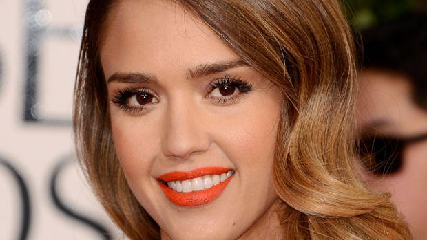 Jessica Alba - Golden Globe Awards 2013 makeup
