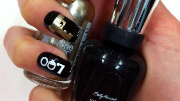 Bond girl nail art - Sally Hansen