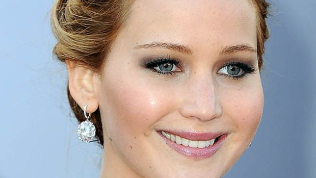 Jennifer Lawrence - Oscars 2013 hair - front