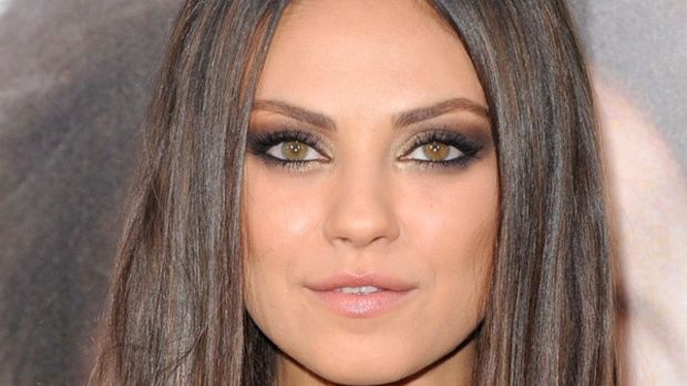 Mila Kunis, dark brown hair, Ted premiere, 2012