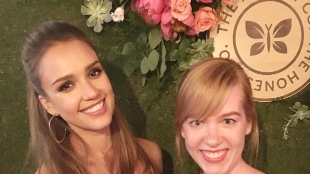 Jessica Alba with Beauty Editor
