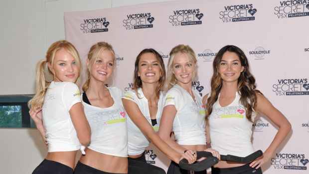 Victoria's Secret Angels visit SoulCycle, 2011