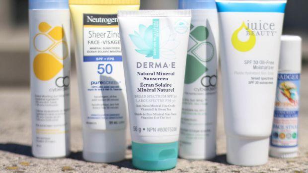 Zinc oxide sunscreen face