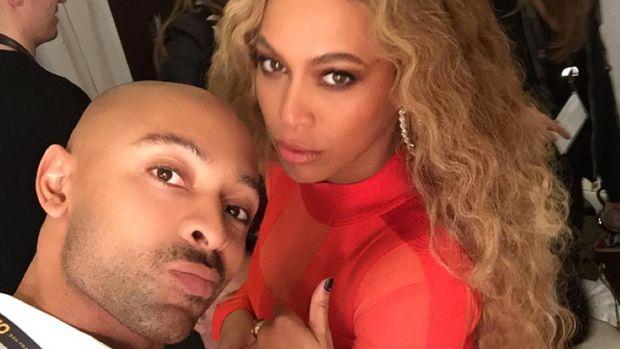 Sir John with Beyonce
