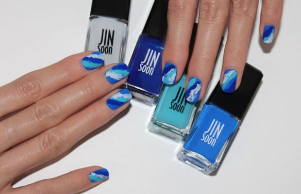 Wave nail art tutorial (4)