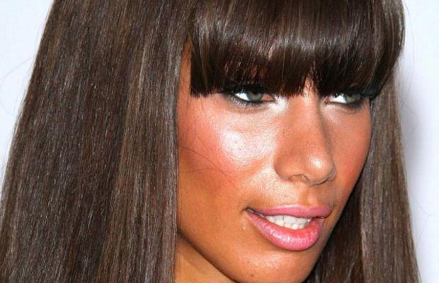Leona Lewis long face bangs