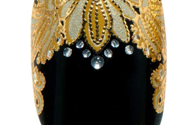 Revlon by Marchesa 3D Jewel Appliques in Crown Jewels (over Revlon Nail Enamel in Knockout)