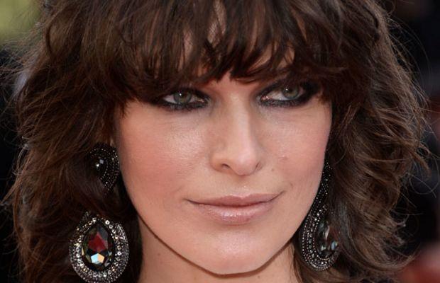 Milla Jovovich heart face bangs