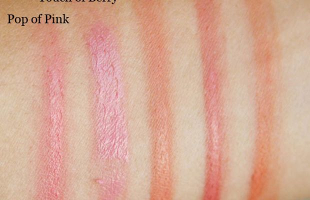 Rimmel Stay Blushed Liquid Cheek Tint blended swatches