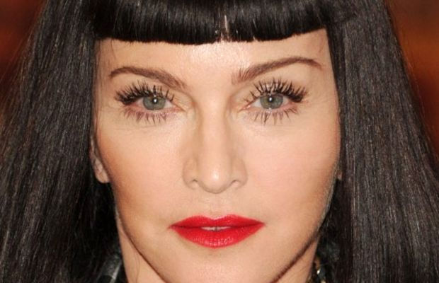 Madonna diamond face bangs