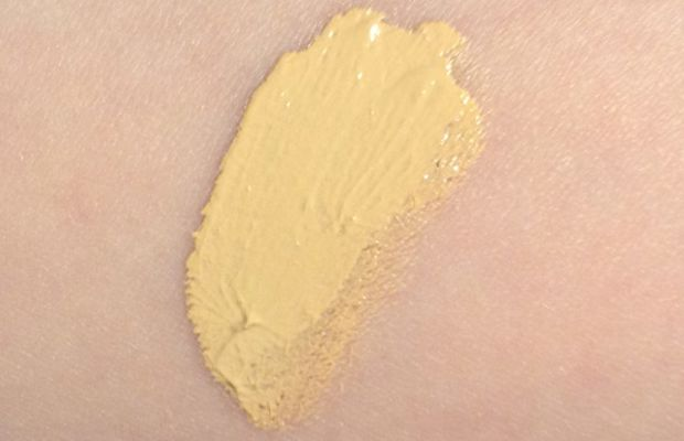 Chanel CC Cream review (unblended swatch)
