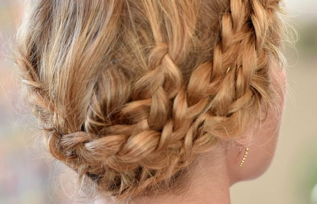 Kate Bosworth braided updo, Style Thief launch, 2014 (2)