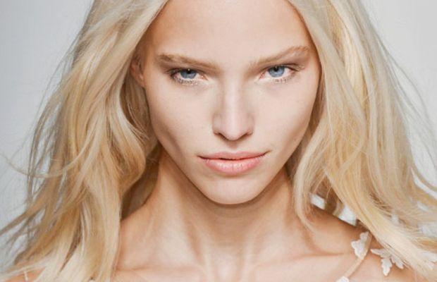 Platinum blonde model