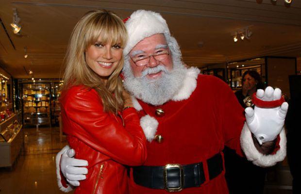 Heidi-Klum-with-Santa