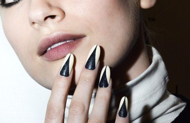 Leather nail art tutorial - Lucian Matis Fall 2013