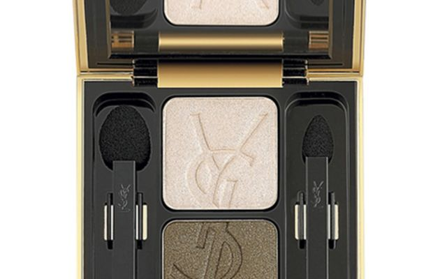 Yves Saint Laurent Ombres Duolumieres Two Color Eye Shadow Duo Palette in No. 1 - Heavenly Beige Astral Brown
