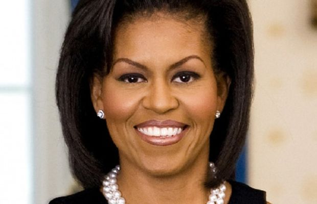 Michelle Obama before bangs