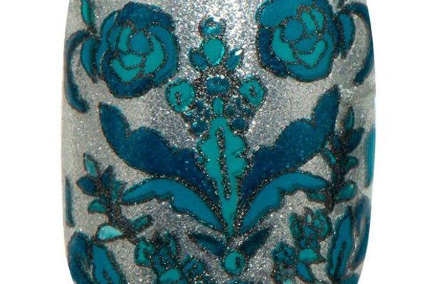 Revlon by Marchesa 3D Jewel Appliques in Silk Rosette (over Revlon Nail Enamel in Rich)