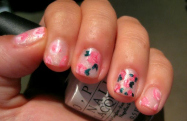 Girly girl mani - step 3
