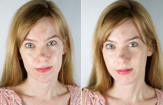 Chanel Les Beiges Healthy Glow Fluid (before and after)