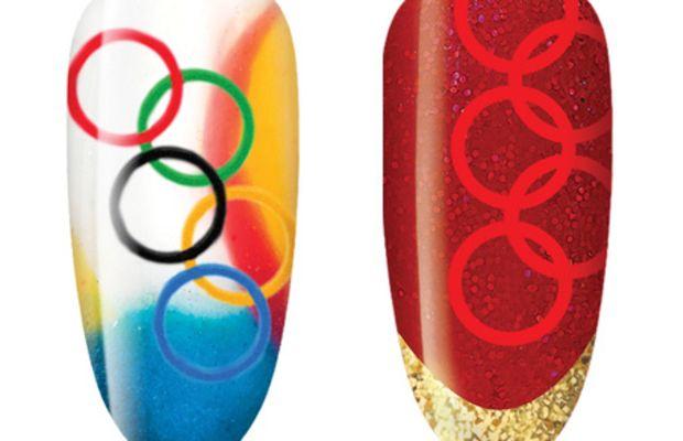 CND Olympic nail art