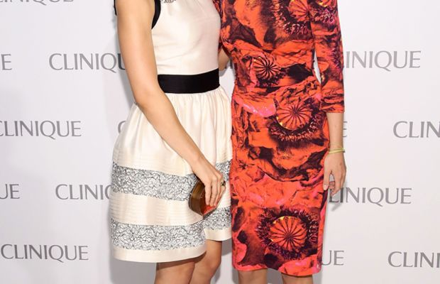 Katharine McPhee and Emily VanCamp - Clinique Dramatically Different party 2013