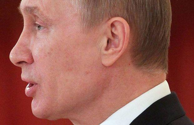 Vladimir Putin jawline after