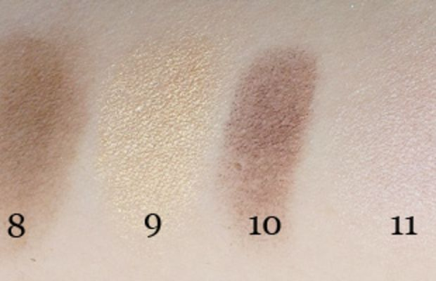 Maybelline The Nudes Eyeshadow Palette swatches (7-12)