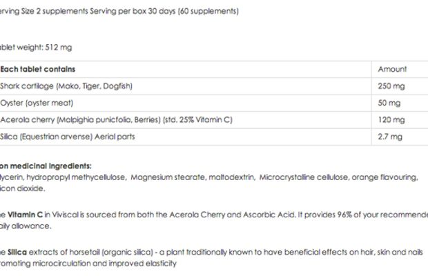 Viviscal supplement facts
