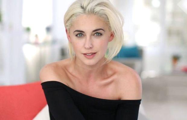 Erika Bearman platinum blonde hair