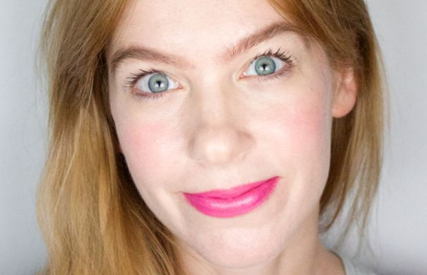 Manic Panic Lipstick in Hot Hot Hot (on lips)