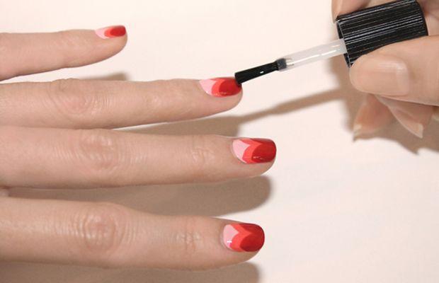 Heart manicure tutorial - step 6