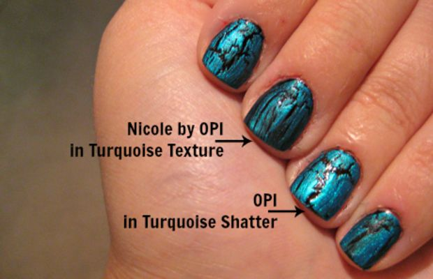 turquoise crackle