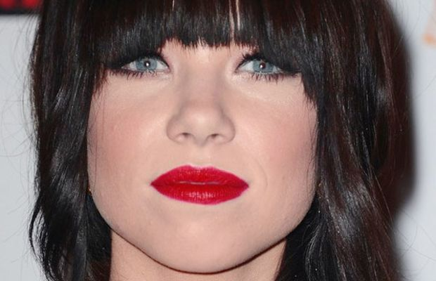 Carly Rae Jepsen oval face bangs