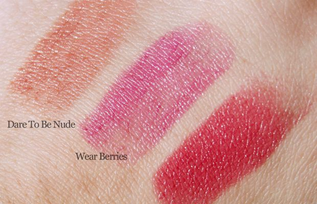 Essence Longlasting Lipstick swatches