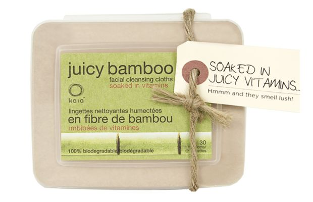 Kaia Naturals Juicy Bamboo Face Wipes