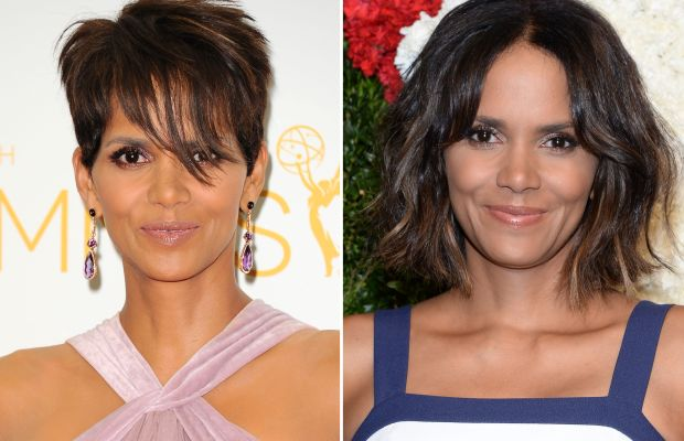 Halle Berry hair before and after