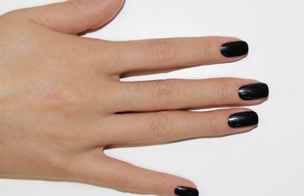 Ghost nail art step 1