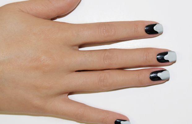 Ghost nail art step 2