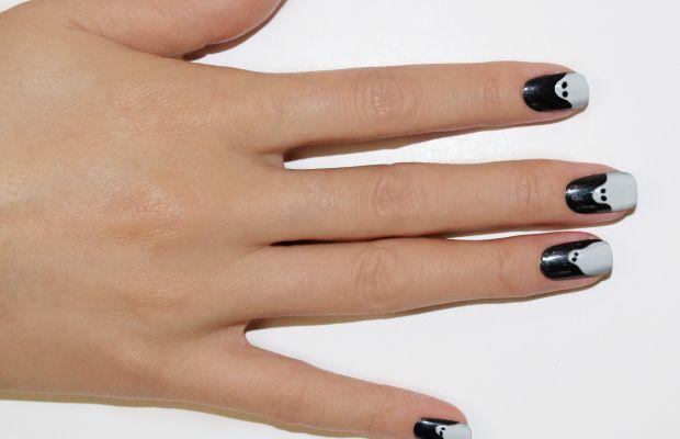 Ghost nail art step 3